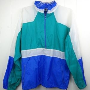 Vintage Active Wear Mens Windbreaker Nylon Jacket